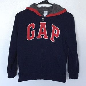 Boy's Gap Blue Hoodie w/Red Gap Lettering Sz - Lg